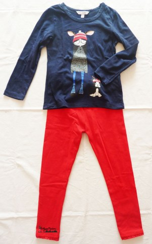 "outfit leggings rossi e t-shirt ""Little Marc Jacobs"""