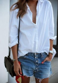 camicia-bianca-outfit-white-shirt-short-jeans