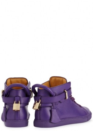 Buscemi-purple-grained-leather-hi-top-trainers-back-550