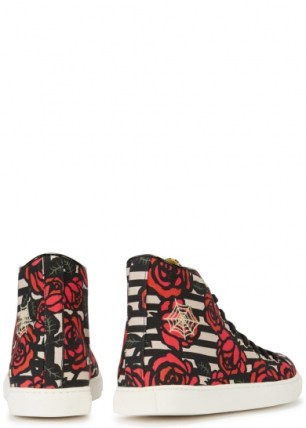 Charlotte-Olympia-multicoloured-canvas-hi-top-trainers-back-290