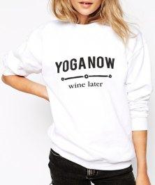 Casual Jewl Neck Long Sleeve Letter Print Sweatshirt For Women