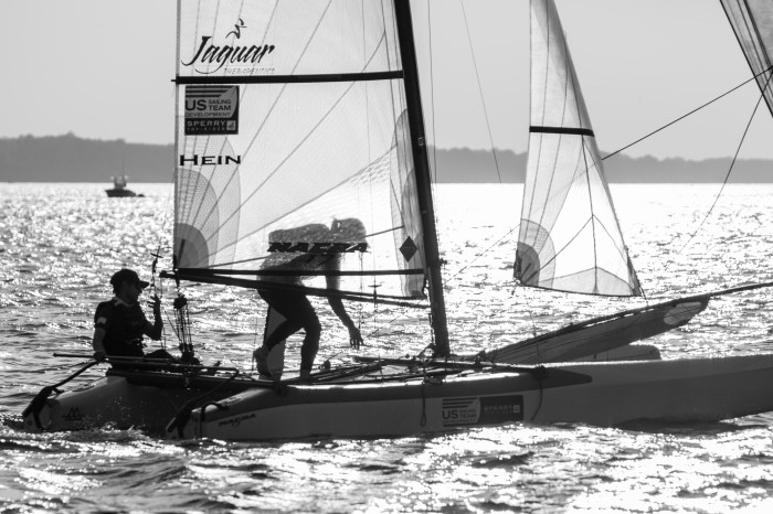 David Hein and Jessica Claflin Sailing NACRA 17