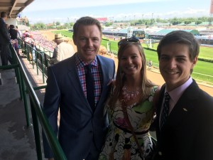 Arielle and David at Kentucky Oaks