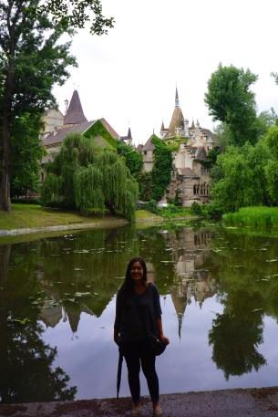 Me in front of Vajdahunyad castle. It's a tad dark... got to work on Van's photo taking skills haha.