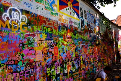 John Lennon Wall - the wall originally started under the communist regime as a place where youths could write their grievances but also their hopes. Though Beatles' lyrics still adorn the wall it has turned into a place to write about any dreams, goals, and love.