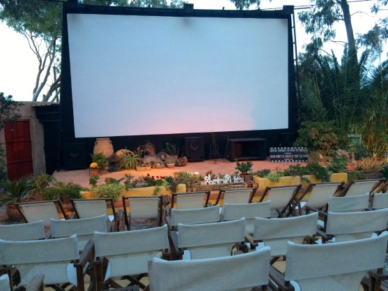 Outdoor cinema in Kamari