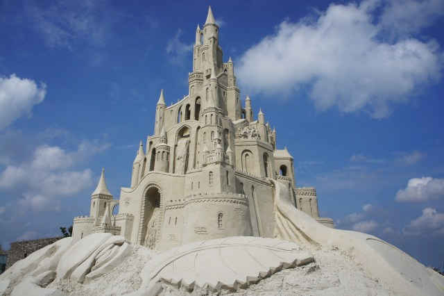 Sandcastle building is one of the fun activities you can do in South Padre