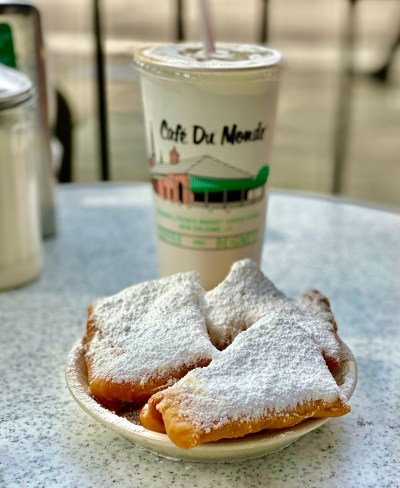 Cafe du Monde beignets in New Orleans