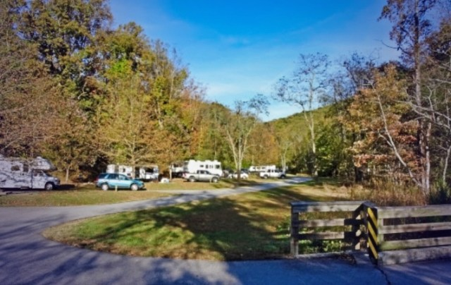 Camping at Stone Mountain State Park NC