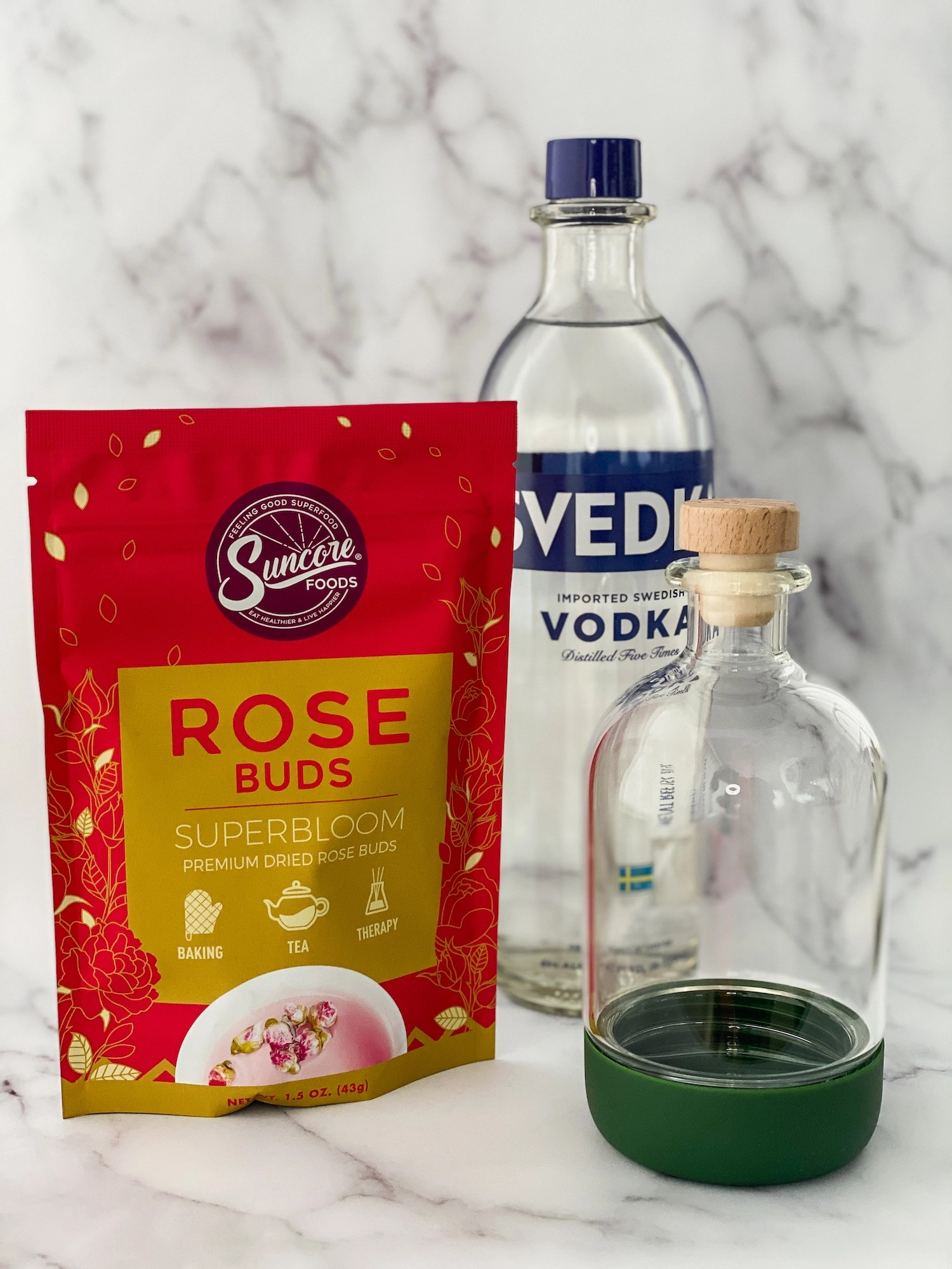 How to Infuse Rose Vodka