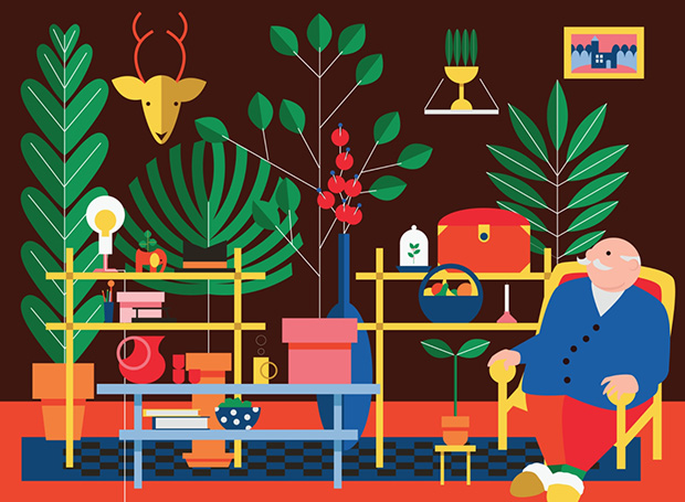 Ilustrações bold Kiki Ljung