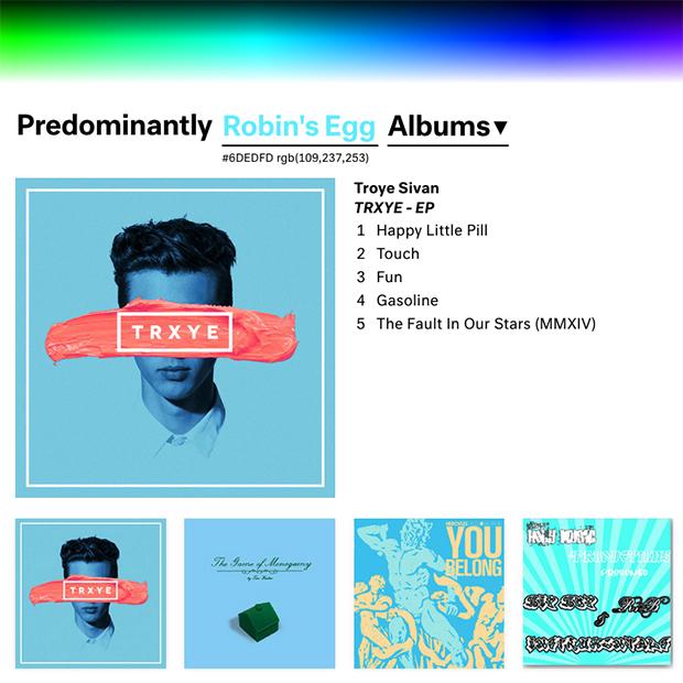 follow the colours música cor Predominant.ly 07