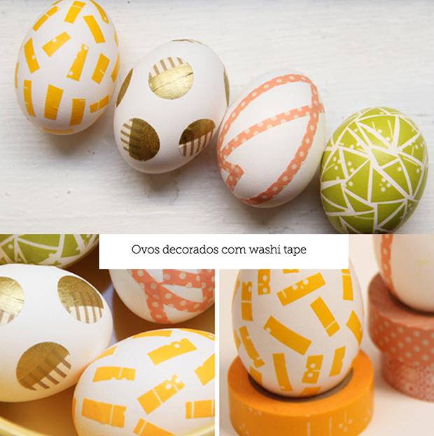 Ovos decorados washi tape colacorelinha