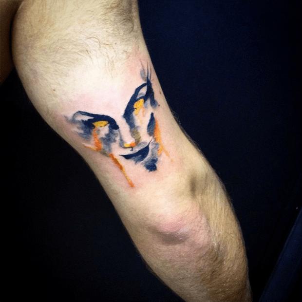 follow the colours tattoo friday LCjunior aquarela