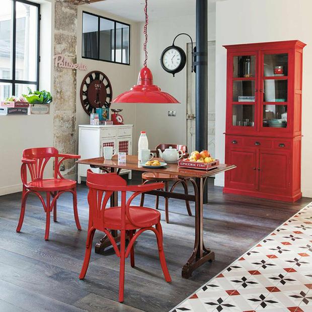 vermelho decoração sala de jantar