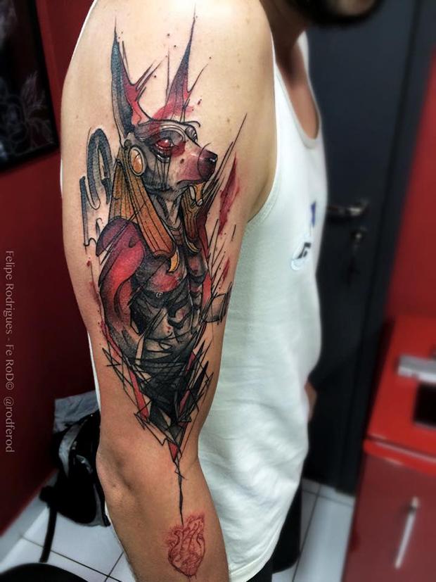 Watercolor tattoo Felipe Rodrigues egito