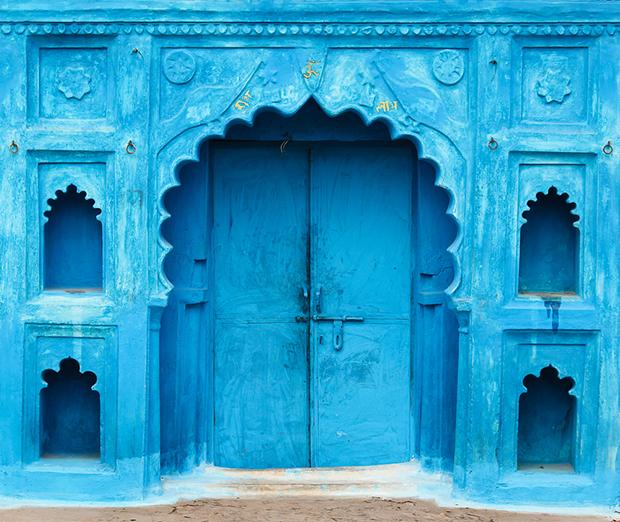azul índia porta