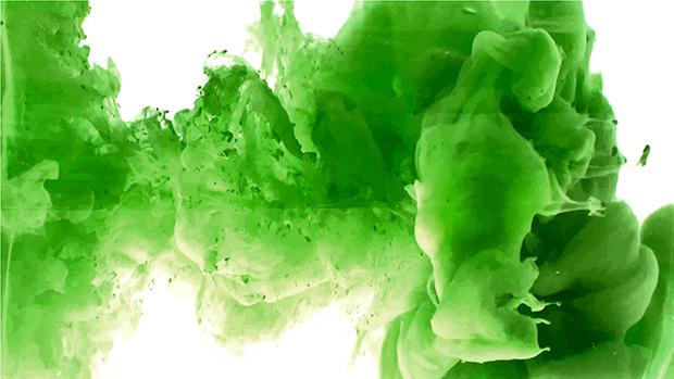 Significado cor verde tinta água