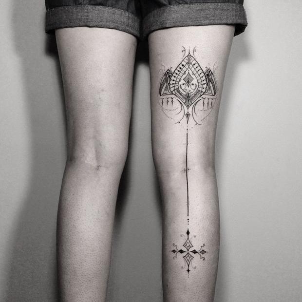 tattoo tatuagem daniel matsumoto perna