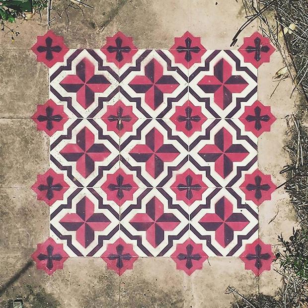 estêncil padrões geométricos javier de riba 13