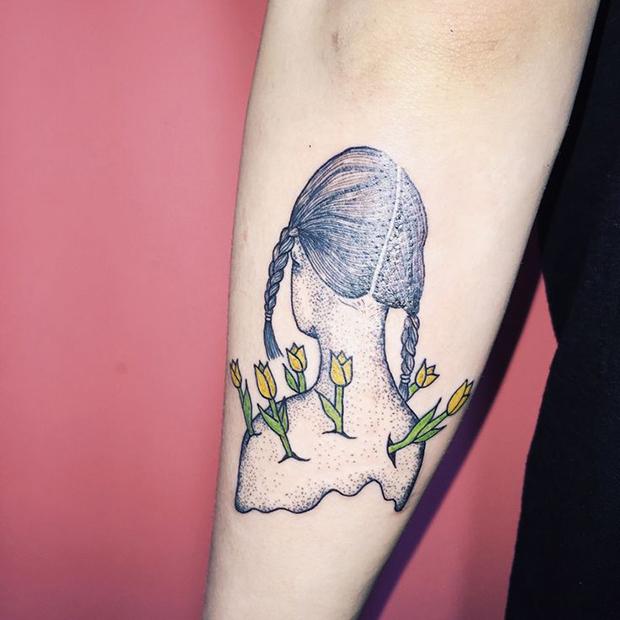 Kim Michey tatuagem tattoo girl