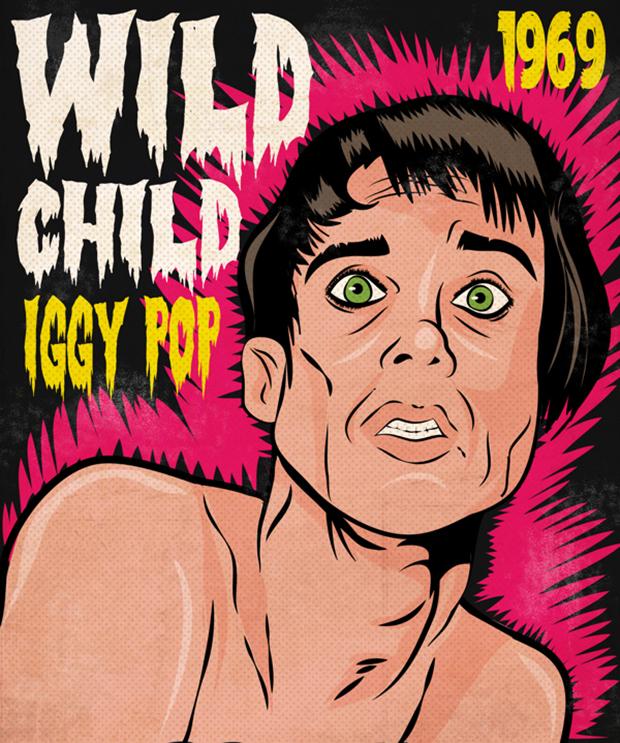 ilustrações pop cartoon mad mari iggy pop