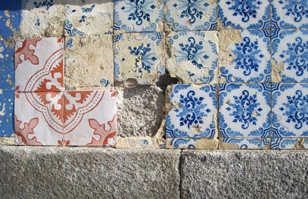 intervenções Poro azulejos de papel portugal