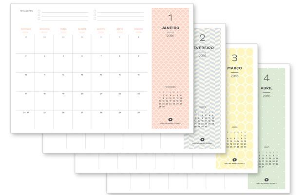 planner mensal calendário 2016 para baixar não me mande flores