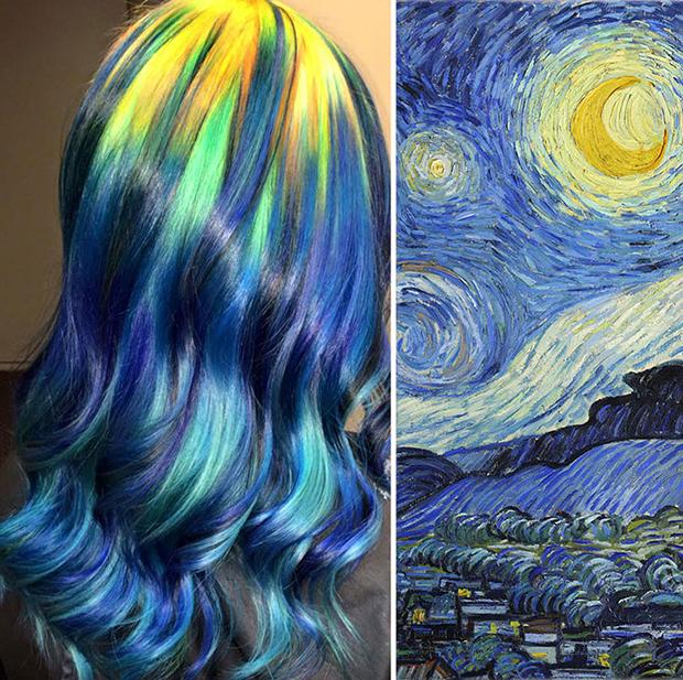 follow-the-colours-cabelo-colorido-ursula-goff-arte-noite-estrelada