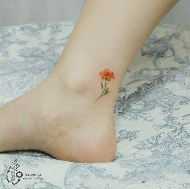 delicadas tatuagens aquarela aro tattoo tattooist silo flor