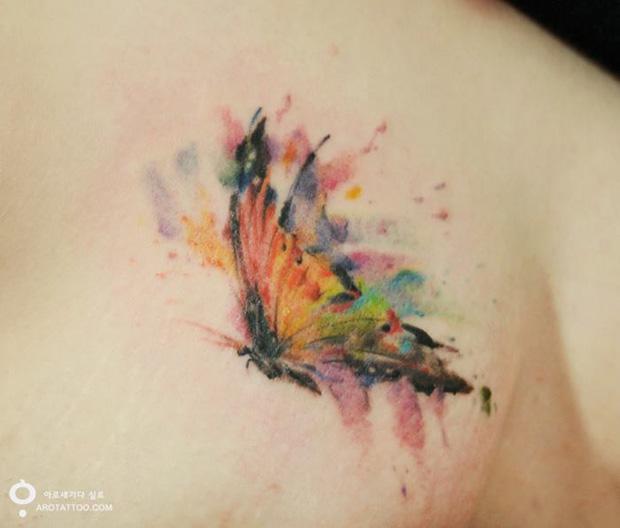 delicadas tatuagens aquarela aro tattoo tattooist silo borboleta