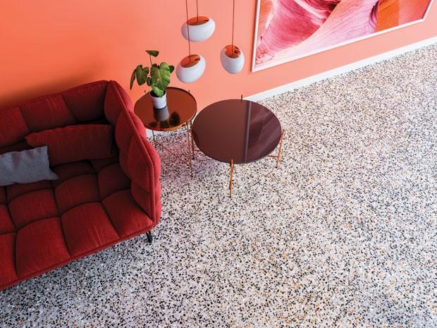 tendência decoração granilite