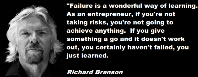 Richard Branson failure quotation