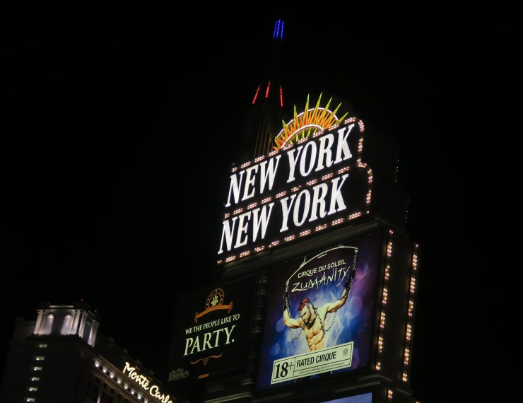 New York New York Sign