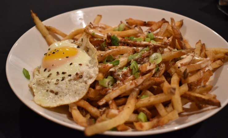 Dirty Fries at EnVie Restaurant in Lansing, Michigan