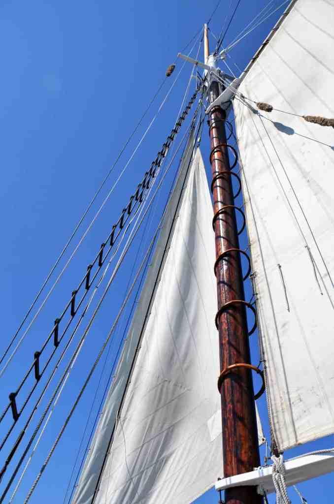 Tall Ship Sails on Grand Traverse Bay in Traverse City, Michigan