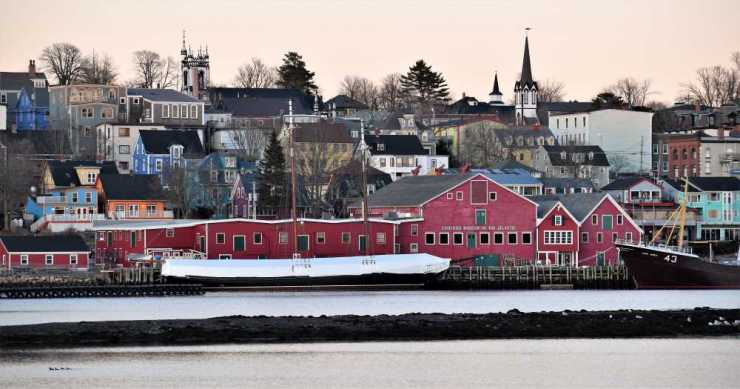 View of Lunenburg from across the harbor