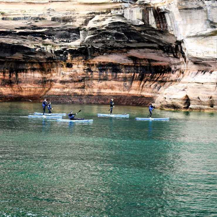 Stand-Up Paddle Boarding at Pictured Rocks National Shoreline
