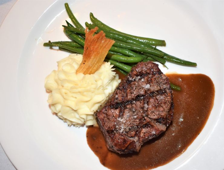 Filet Mignon with Green Beans and Whipped Potatoes from The English Inn