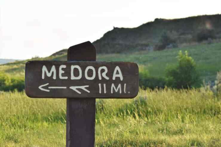 Medora, North Dakota - Follow the Sign