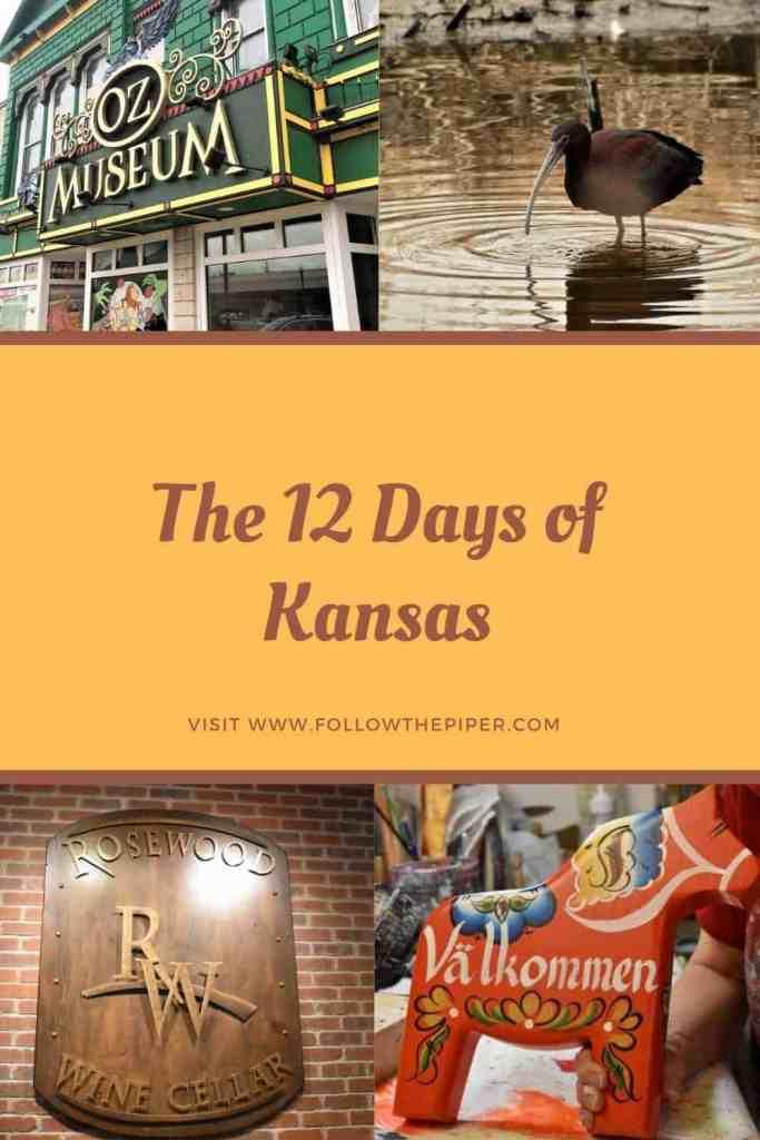 The 12 Days of Kansas Pinterest Pin