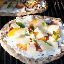 Grilled Peach and Prosciutto Pizza