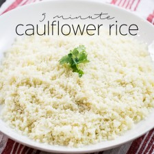 5 Minute Cauliflower Rice