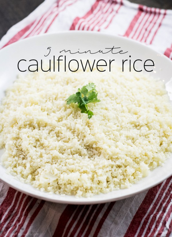 5 minute cauliflower rice | Follow the Ruels