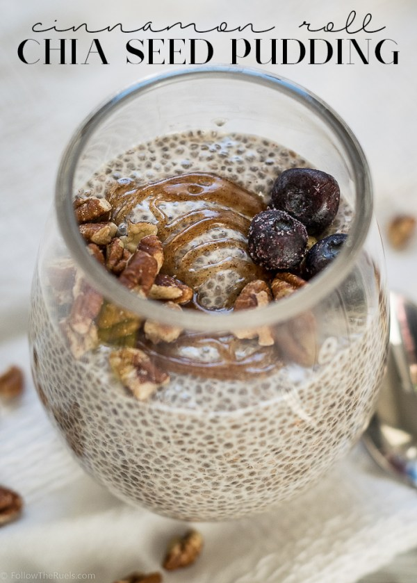 Cinnamon Roll Chia Seed Pudding