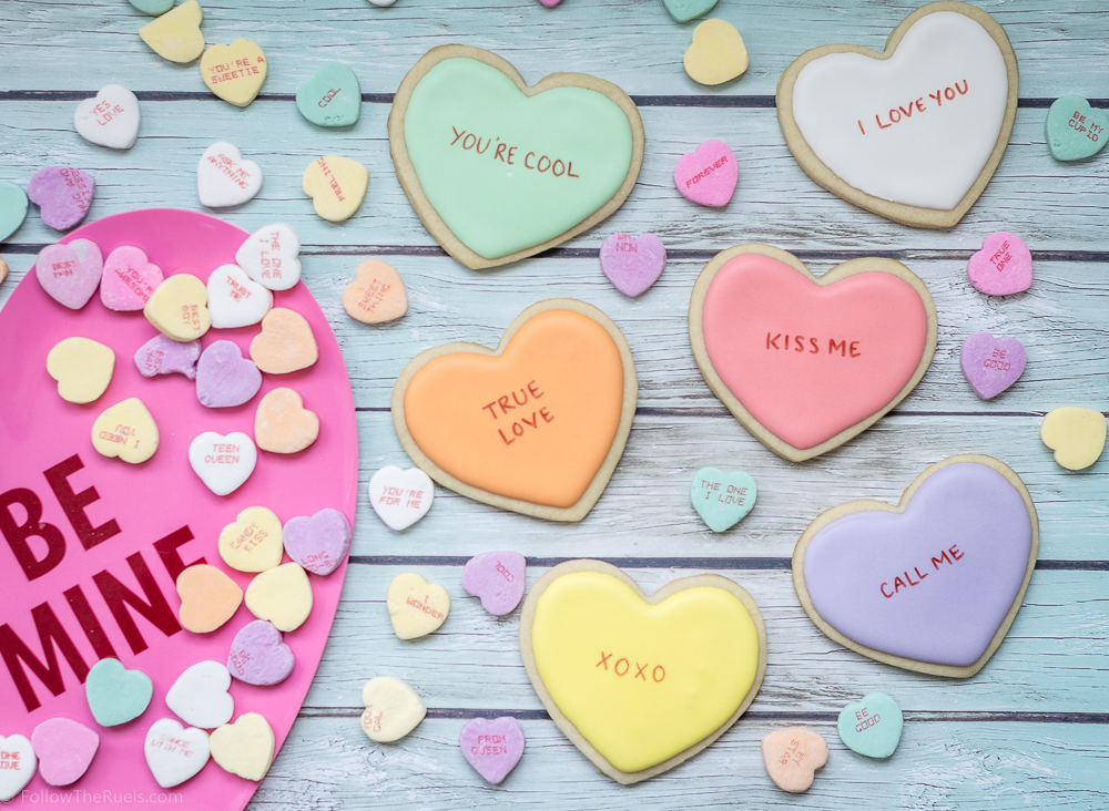 Conversation Heart Cookies-10
