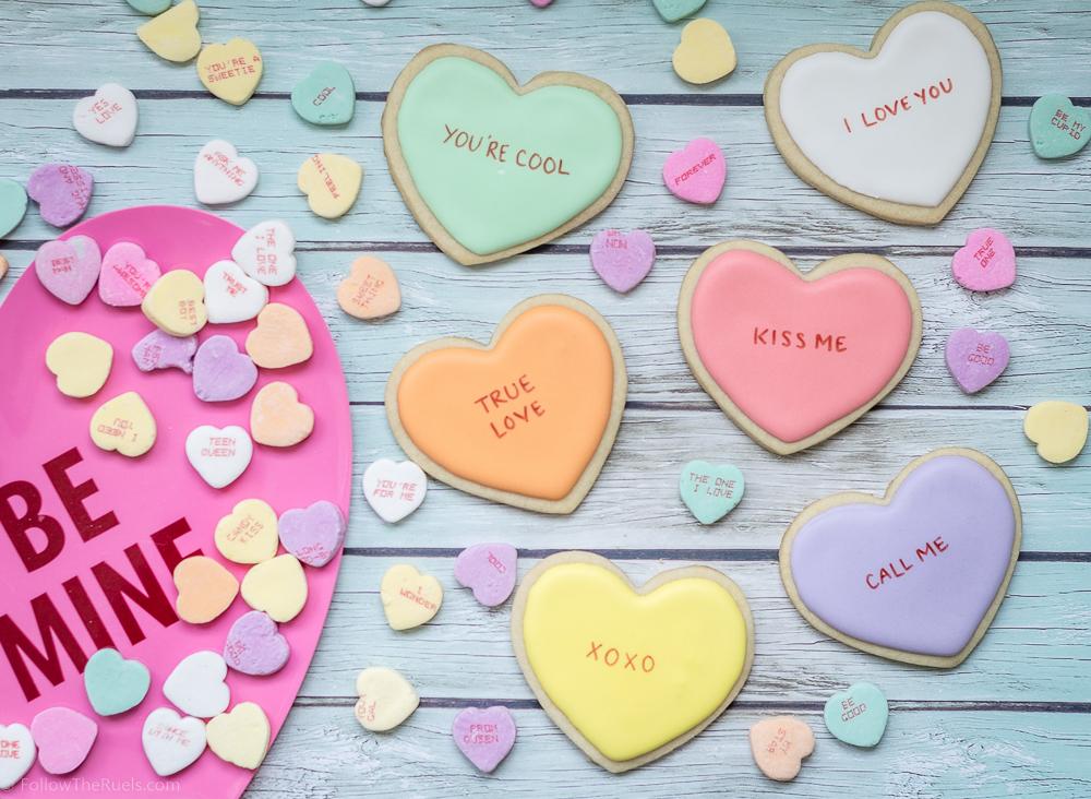Conversation Heart Cookies-10