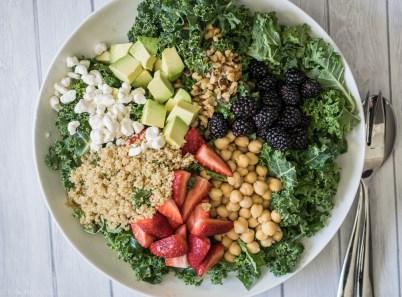 Quinoa Berry Kale Salad