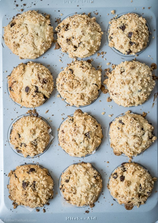 Peanut Butter Chocolate Chip Muffins-6