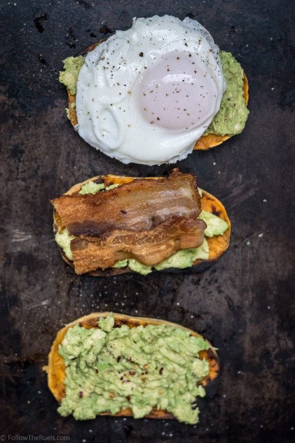Avocado Toast on Sweet Potato slices